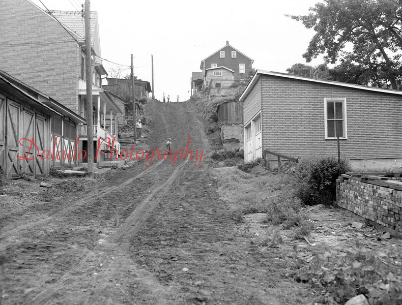 (July or Aug. 1956) A street in Coal Township.