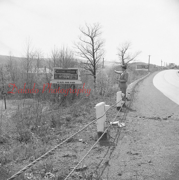 (May 1958) Area where a state police barracks will be built off Route 122 (61) at Ranshaw.