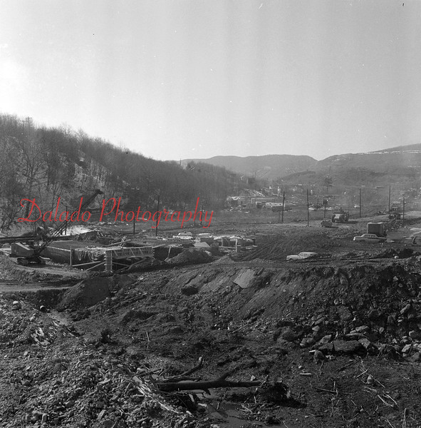(1969) Shown is the reconstruction of Route 61 at the Route 901 intersection at Ranshaw. The Kmart building would eventually be built in the background.