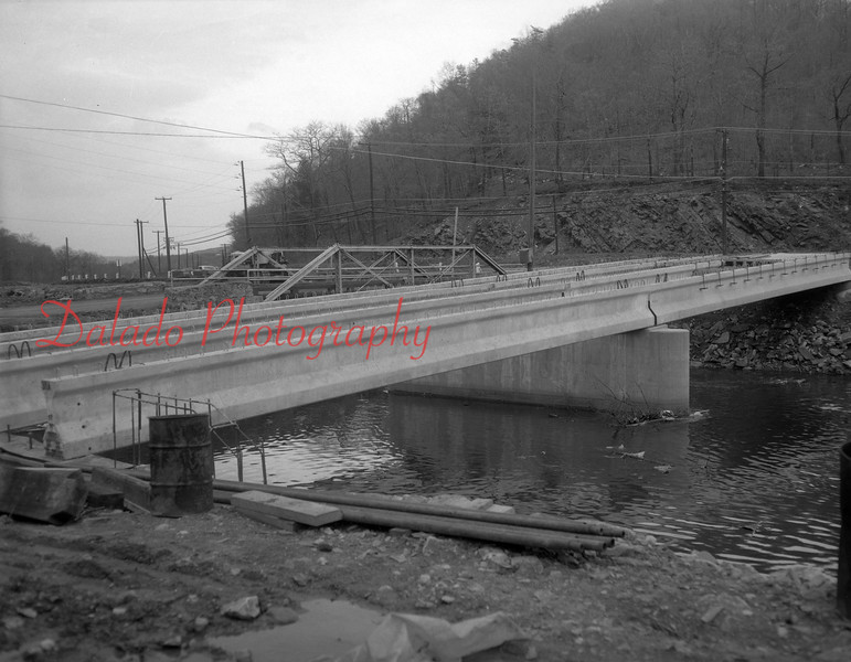 (Aug. 1967) Construction of a new bridge off Route 61 at the Brewery Curve.