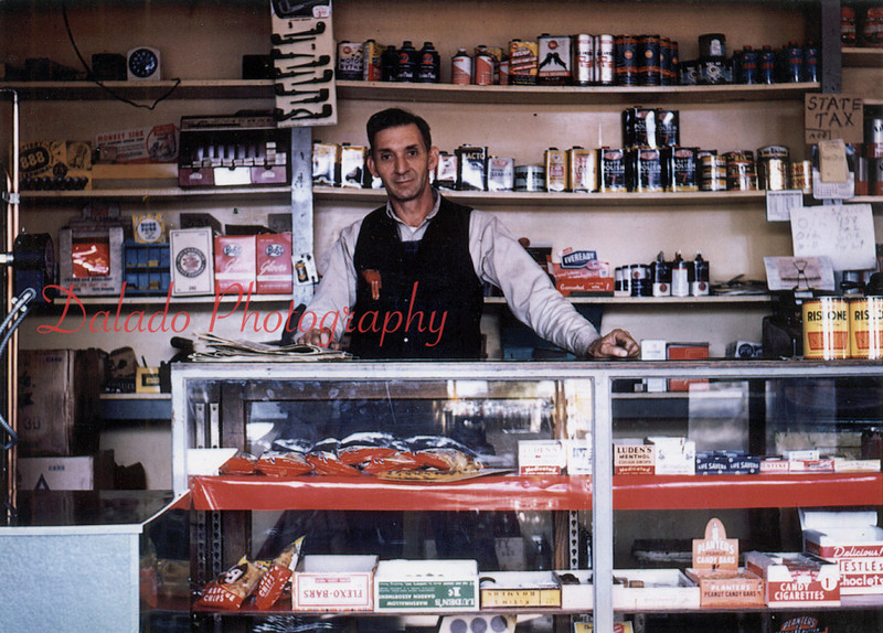 Charles Deitman inside his Gulf Gas Station at the entrance to Ranshaw.<br /> <br /> *Thanks to Stephanie C. John for the photo. To contact her, please email her at johnste@live.com*