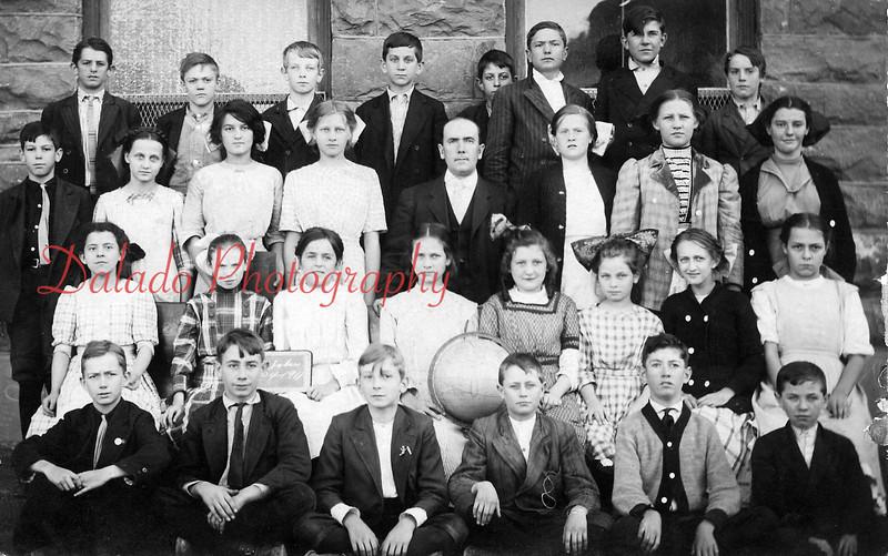 (1911) Coal Township Garfield Grade School Class of 1911- Pictured are, front row from left, William Niblick, Ray Leffler, Ralph Berkheiser, Earl Fisher, Ray Fester and Andrew McBride; second, Bridget Murphy, Margaret O'Neil, Mary Fisher, Ruth Maurer, Rose Deitrick, Anna Maurer, Lena Tressler and Edna Marr; third, Norman Laurer, Mildred Harris, Pearl Brown, Ruth Leffler, Michael Concannon, teacher; Ruth Reed, Beulah Latsha and Sally Dormer; back, Arthur Greager, William Heath, John Emerick, Roy Noll, Joseph Ritzman, Arthur Clark, Albert Butkofsky and Thomas Howells.