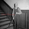 (05.19.55) George Burns, of 1525 Lynn St., who served as janitor at the McKinley School for 41 years and is 84, plans to continuing working as long as possible. He began working in Sept. 1914.