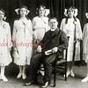 (06.1919) First graduating class of the St. Stephens Grammar School-  With Rev. Father Bonaventura are, from left, Stefanie Myslynsk, Cecilin Myslinski, Frances Graboski, Florence Bocuszenski and Mary DePiante.