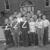 (10.04.53) McKiney School patrol boys are, front row, from left, Kenneth Miller, Lawrence DiOrio, Gary Williams, Robert Boyer and Roger Derk; second, Roland Krebs, Harold Chapman, Robert Evans, Robert Watters and John Bulko; third, Robert Synder, Robert Olley, Wilbur Elliott and James Fox.
