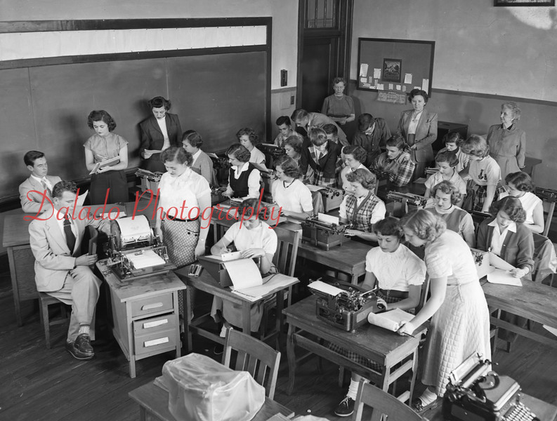 (05.02.53) Conyngham Township High School press club.