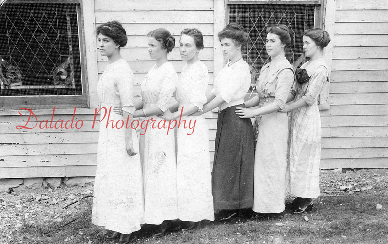Lady teachers of the Lincoln Grade School in Ranshaw pose for a photo. Pictured are, from left, Irene Brennan, Clara Hancock, Gertrude Fisher, Gertrude McCarthey, Beatrice Cummings and Adrienne Coyne.