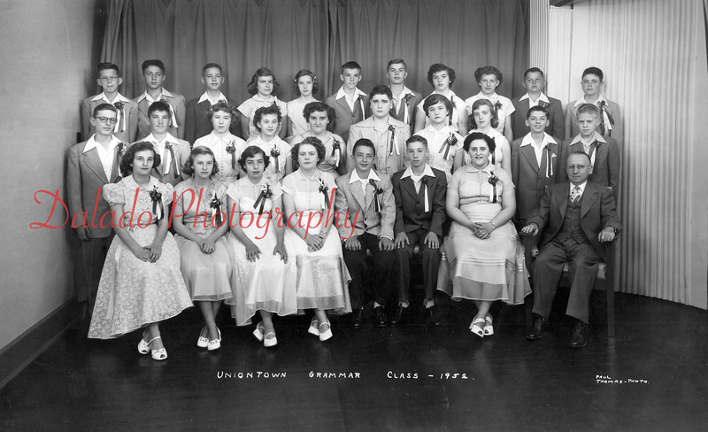 (1952) Uniontown Grammar- Pictured in this photo is Freddy Aston, second row, far left; and next to him Bill Carter.