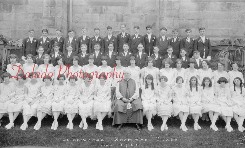 (06.1925) St. Edward Grammar Class of 1925.