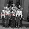 (10.04.53) Uniontown School patrol boys are, front row, from left, Robert Rubendall, Robert Walter and Edwards Dietrick; second, Danny Dimmick, Robert Chaundy, Robert Zignar and Lawrence Varney; third, Jim Wardrop, George Persing and Daryl Moyer.