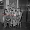 (11.05.1953) Kindergarten students of the Wilson School in Kulpmont on Halloween. Pictured are, front row, John Starinshak, Peter Molesevich and Dolores Politza; second row, Roseann Primerano, Geraldine Saukaitis, Dianne Ordakoki and Louis Kolar.