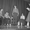 (11.27.57) Ninth-grade students at Kulpmont High School prepare for a skit for their guidance class. Pictured are Marilyn Shiko, director, and cast members MaryAnn Starego, Joseph Apichell, Joseph Bressi, William Redd and John Woytowich.