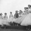 (1957) Bernice Pascavage, Mount Carmel Area senior, is crowed as Field Day Queen by Dan Ficca, captain of the track team. Maids of honor are sophomore Natalie Washeko, junior Bonnie May and senior Joan Bugel. Other maids are Dorothy Chichilla, Frances Todisco, Carol Strike and Sandra Falkie.