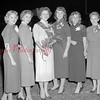 (Fall 1955) Shown in this photo from the fall of 1955, Mount Carmel High School homecoming queen Bernice Kulick, center, stands with her court.