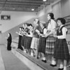 (Jan. 1960) Our Lady of Lourdes Students sing hymns during a retreat.