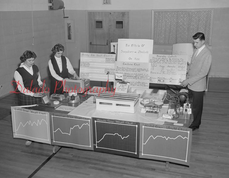 (April 1960) Lourdes science fair.