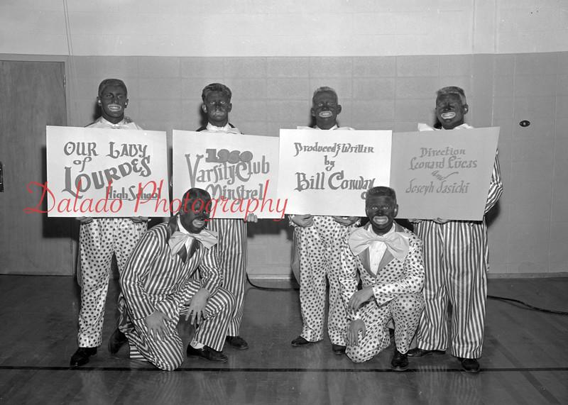 (April 1960) Lourdes varsity club.
