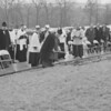 (1963) I want to say groundbreaking for addition to Lourdes, however, not 100% sure this is 1963.