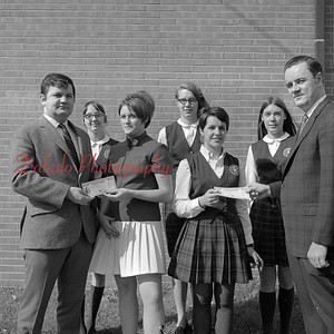 (1969) Photo of Our Lady of Lourdes students with bonds.