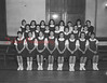 (12.18.1958) St. Edward's Raiderettes on Dec. 18, 1958, are, seated, from left, Gloria Jean Miller, Cassie Glowa, Mary Ann Dauksha, Maxine Warrish, Suzie Sager, Jean Dudeck and Roberta Romanski; standing, Mary Ann Pesansky, Kathleen Hauer, Marianne Olsheski, Mary Balanda, Mary Borgetti, Victoria Kiersnowski and Louise Balando; third, Trudy Snyder, Barbara Okrasniski, Carol Anna Christiana, Delores Britton, theresa Polastre, Catherine Hartzel, Terry Olcese and Coach Alberta James.