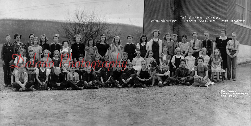 (April 1941) Swank School in Irish Valley.