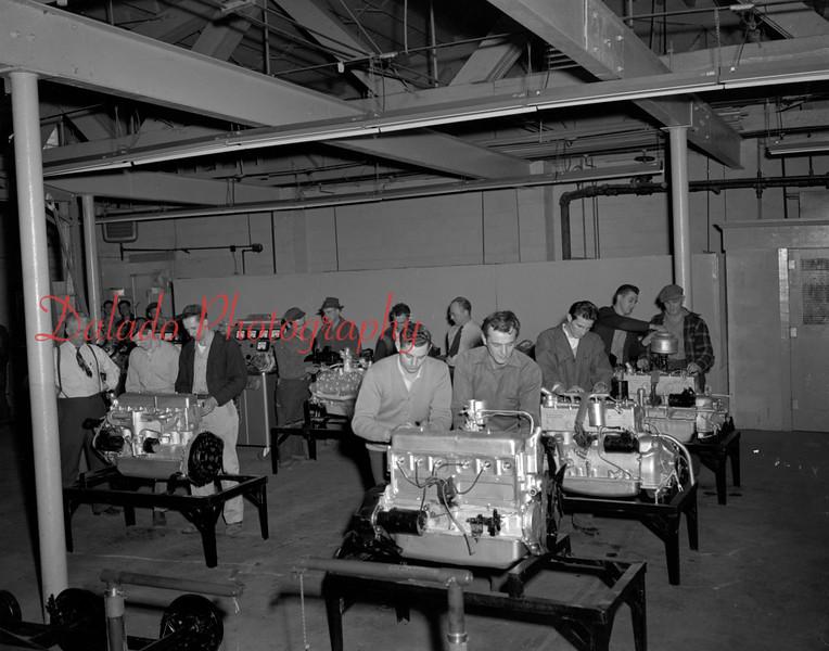 (1949 or 1950) Automotive Repair class.