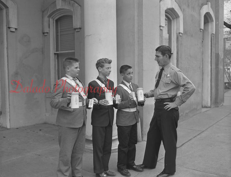 (1961) Patrolman Kearney with patrol boys.
