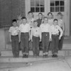 (10.21.54) Patrol boys of McKlinley School, Mount Carmel, are, front row, from left, Robert Hancock, David Steinhart, Harry Hodick, Robert Banks and Anthony Carter; second, David Kroh, Robert Block, Ed Donkochick, Timothy Barnes and David Wilkinson.