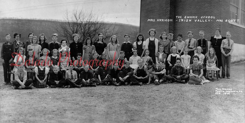 (April 1941) Swank School in Irish Valley.
