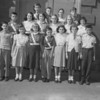 (10.04.53) St. Mary's School patrol boys are, front row, from left, Barbara Sobotor, Aelen Cewenak, Ronald Anderson, Mary Ann Kisela, Marian Olszewski and Bernie Sabol; second, Matthews Treese, Emily Oronec, Sylvia Mattis, Barbara Walashewski, Lucille Chervanik and Eva Derk; third, Edward Fetzko, Edward Bobkoski, Robert Williams and Norman Hertzog.