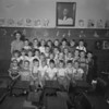 (09.27.51) McKinley School, Coal Township, first-grade class under teacher Gertrude Brennan are, front row, from left, William Hoy, Robert Opie, Robert Frye, David Yocum, John Yocum, Jay Pickens, Lamar Gilchrist and John Raup; second, Gloria Harrar, Agnes Robson, Carol Persing, Edith Shiko, Marie Emerick, Carol Wetzel and Marlin Shovlin; third, Sara Lahr, Gale Minker, Dennis Martin, Brad Rodarmel, Gale Woland, James Maurer and William Forbes; fourth, Miss Gertrude Brennan, Fred Brosius, Samuel May, Gene Herb, Sara Witmer, Robert Middlesworth, Louis Eltringham, Robert Miller and Robert Snyder.