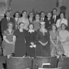 (05.19.55) Daily vacation Bible school, princials and teachers, are, front row, from left, Katie Otto, Jennie Steinmetz, Lester Renn, Paul Erdman, Barbara Brumbaugh and Williams Weaver; second, Rev. Leory Brumbaugh, Mrs. David Madara, Mrs. henry Young, Mrs. Howard Kerstetter and Eleanor Rumberger; third, Mrs. Leroy Brumbaugh, Rev. Forest Stonger, Rev. E.D. Ehrig and Rev. H.C. Baer.