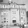 """*Low-Res* (06.1973) The Academy. The marker reads """"High School 1894."""""""