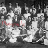 Shown here are graduates of the Academy Grade School prior to World War I. Ralph Horne, principal, is the man in the extreme left of the photo.