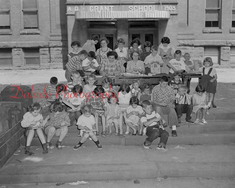 (July 1954) Grant School handicraft.