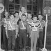 (10.04.53) Lincoln School in Coal Township Patrol Boys are, front row, from left, Lloyd Miller, Carl Bororoski and Colin Topolski; second, Marlin Taylor, Norwood Thomas, Ronald Yablonski and Daniel Kwasnoski; third, John Burns.