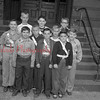 (10.04.53) Lincoln School patrol boys are, from left, Fred Burrell, James Hodge and Harry Strine; second, David Manney, George Edwards,  Robert Buczeski and Donald Eidam; third, Sam Varano, Robert Milbrand and William Haupt.