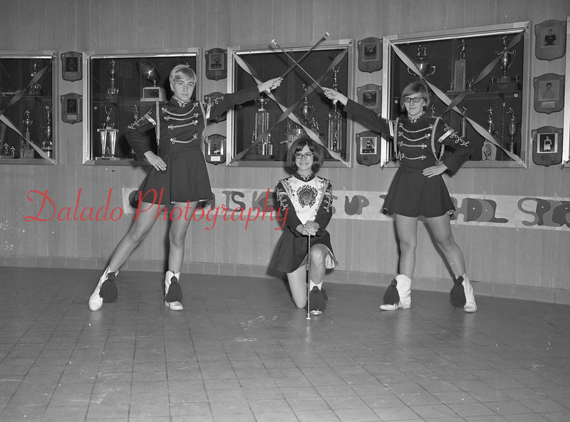 (1968-69) Shamokin Area High School majorettes.
