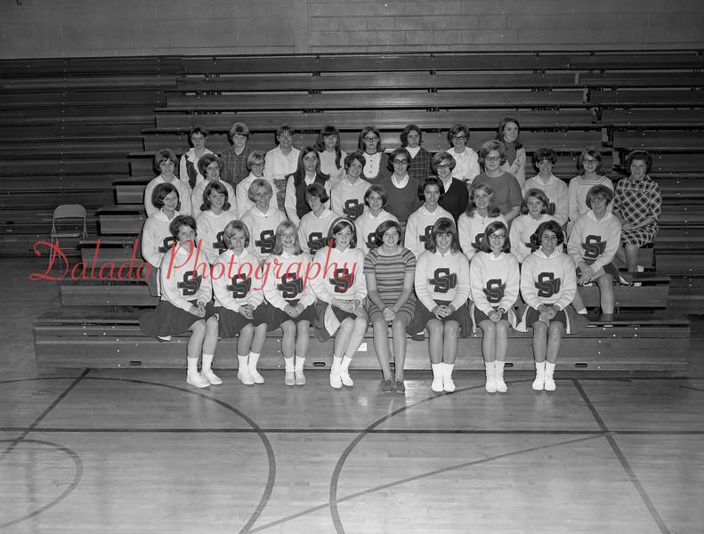 (1968-69) Shamokin Area High School cheerleaders.