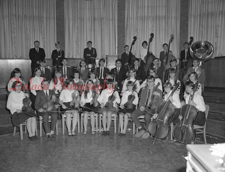 (1968-69) Shamokin Area High School orchestra.