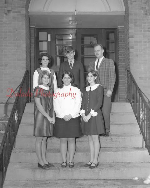 (1968-69) Shamokin Area High School sophomore officers.