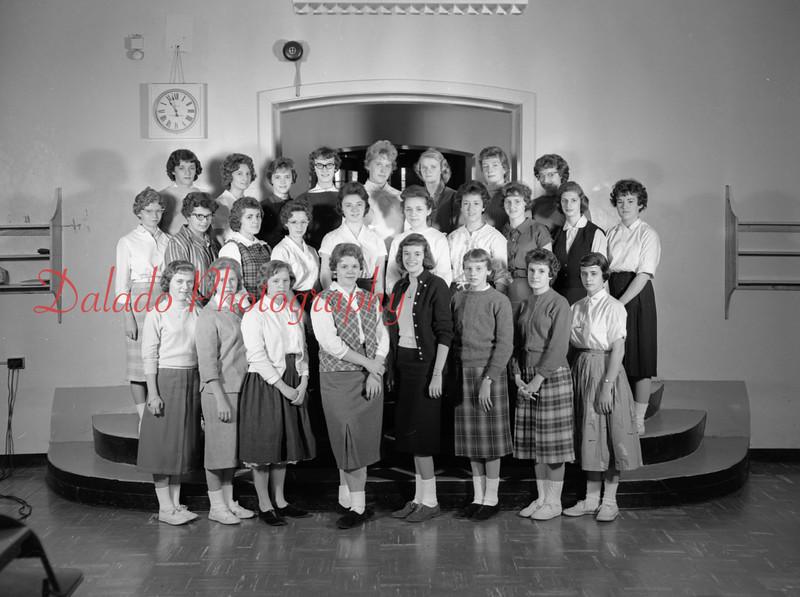 (1959-60) Shamokin High School: Library Club.