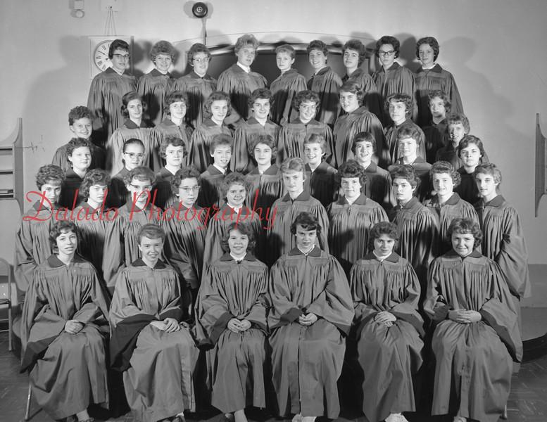 (1959-60) Shamokin High School: Girls Chorus.