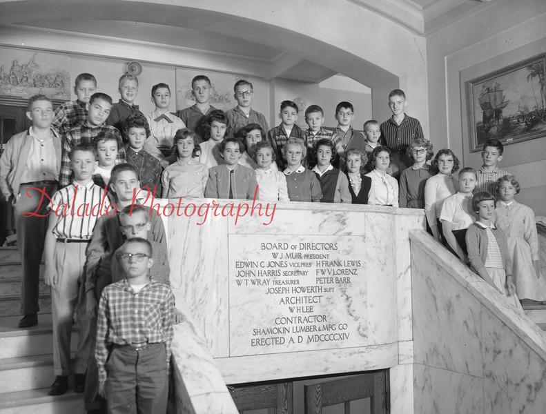 (1959-60) Shamokin High School: Seventh Graders, Sabin.