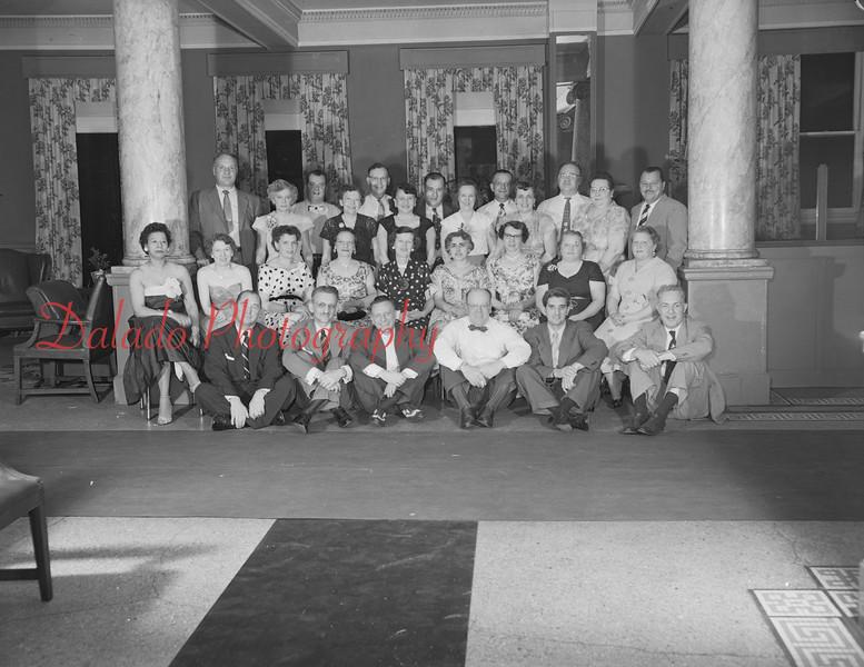 (1958, 59, or 60) Shamokin alumni, 20th reunion, at James Madison Hotel.
