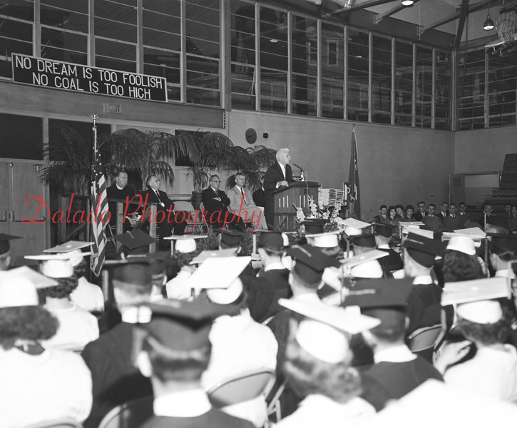 (1959) Shamokin graduation.