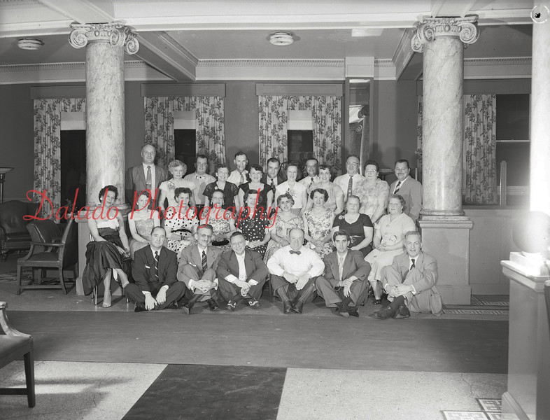 (1958, 59, or 60) Shamokin alumni, 20th reunion, at James Madison Hotel.