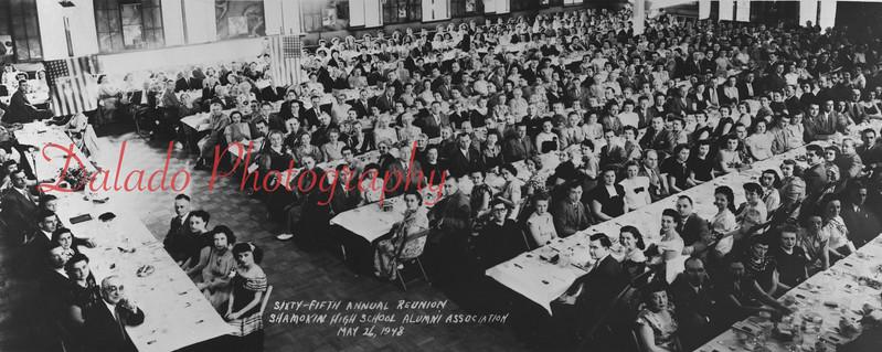 (05.26.48) Sixty-fifth annual reunion of the Shamokin High School alumni association.