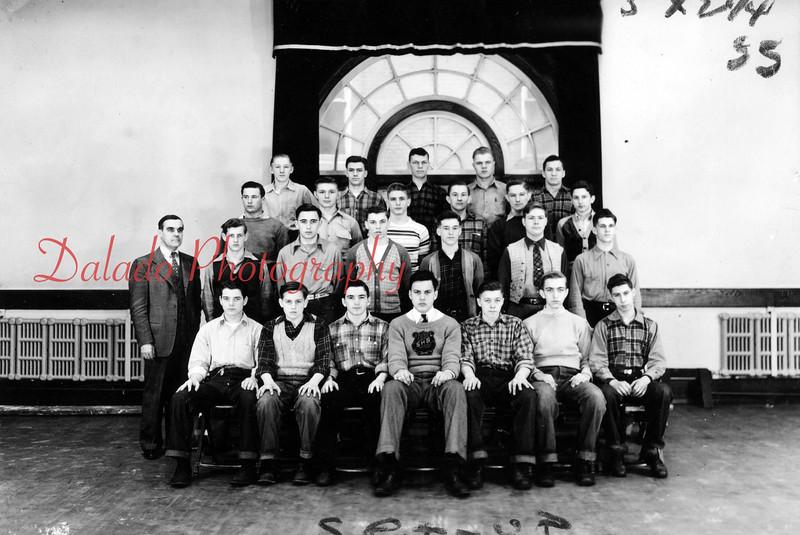 (1958) From the Shamokin High School alumni association 75th anniversary book. Hi-Y Club. 1946 juniors.