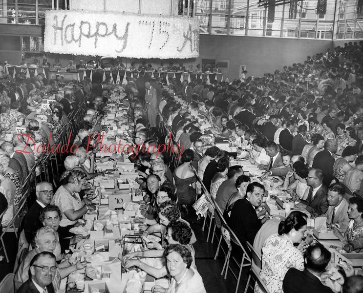 (June 1958) Shamokin High School alumni association 75th anniversary dinner.